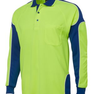 JB's Hi Vis 4602.1 L/S Arm Panel Polo Thumbnail