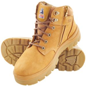 STEEL BLUE PARKES ZIP SIDE LACE UP STEEL CAP TPU SOLE BOOTS (NON SCUFF) WHEAT Thumbnail