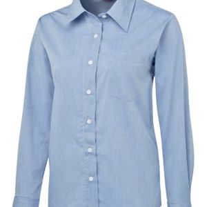 JB's Ladies L/S Fine Chambray Shirt Thumbnail